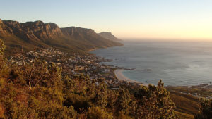 Cape Town view of beach