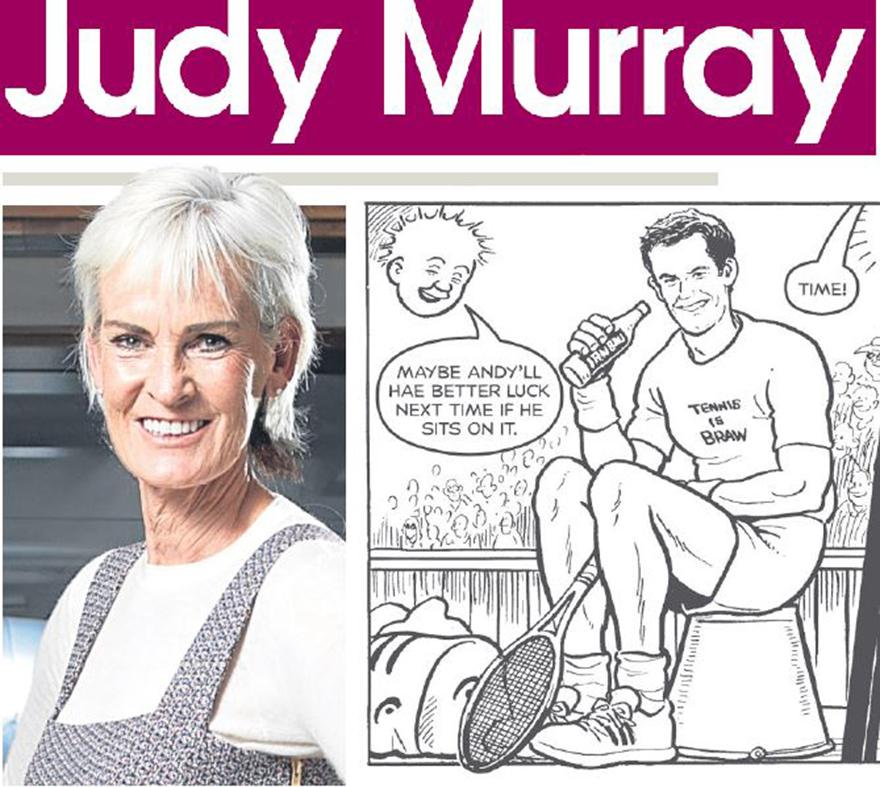 Judy, plus Andy in a Oor Wullie strip