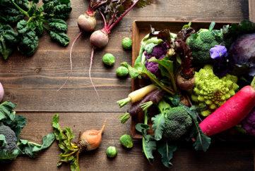 Display of winter vegetables