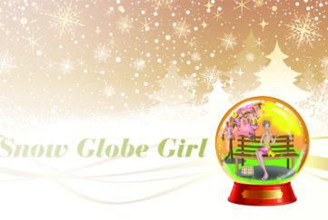Girl in Christmas Snow Globe