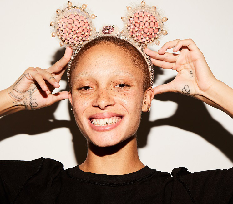 Designer Pudsey ears by Gucci, modelled by Adwoa Aboah