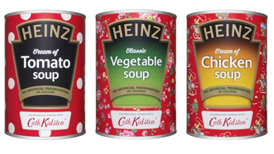 three tins of soup