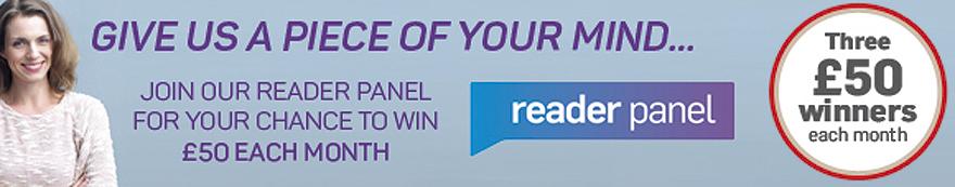 Reader panel win £50 logo