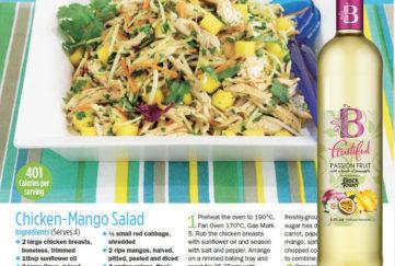 Mango Chicken Salad with white wine