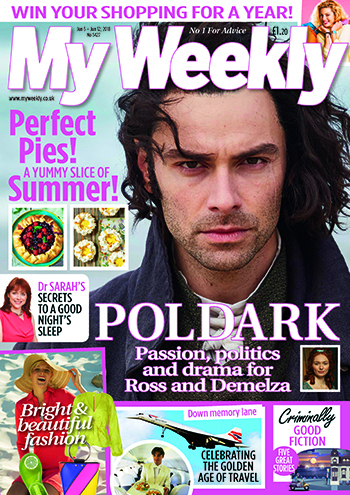 My Weekly June 9 cover featuring Poldark