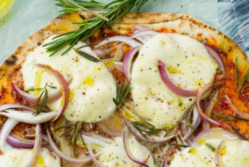 Rosemary and Red Onion Pizza