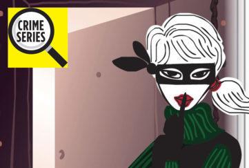 Lady dress as a burglar Pic: Rex/Shutterstock