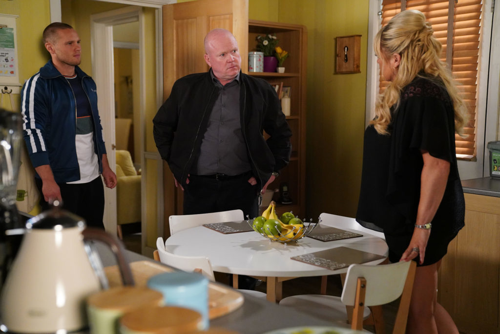 Keanu, Phil and Sharon of EastEnders