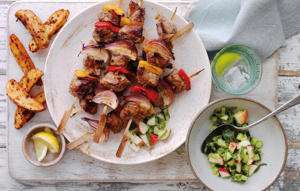 Honey Mustard Lamb Kebab