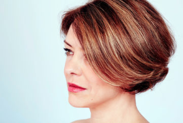 woman with stylish hair