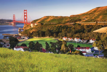 The view from Cavallo Point Lodge Hotel