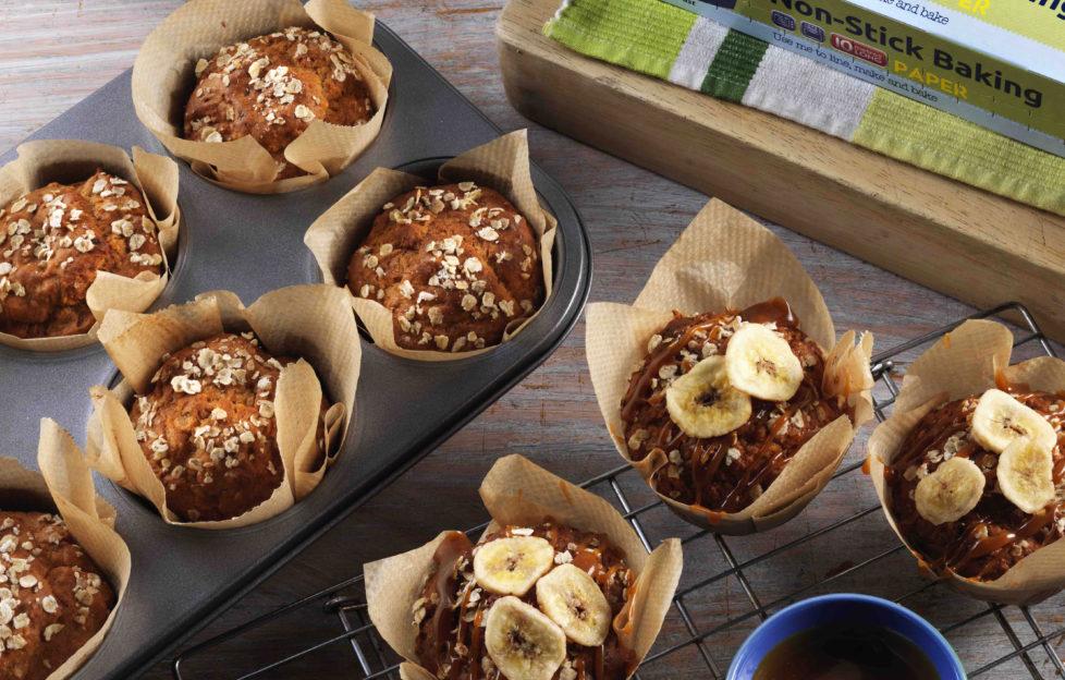 Salted Caramel and Banana Muffins