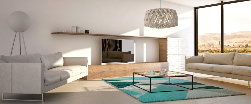 Create the illustion of space by decluttering and altering the position of sofas Pic: Istockphoto
