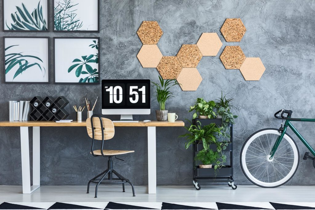 Cork tiles on wall of living room Pic: Istockphoto