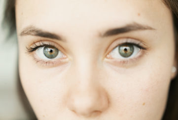 Close up of a woman's eyes