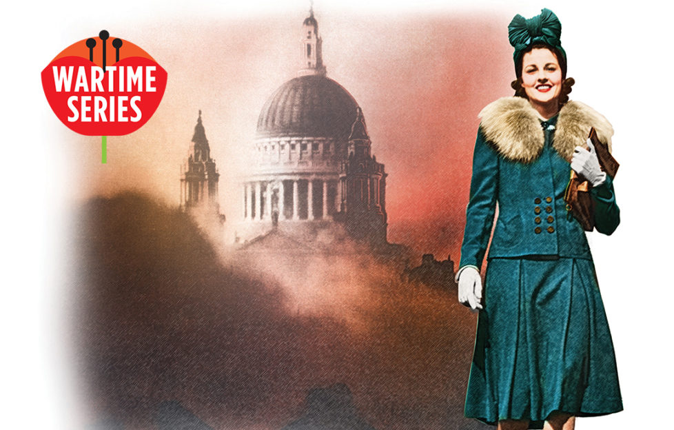 Woman wearing green suit with fur collar Illustration: Getty Images: Rex/Shutterstock, Mandy Dixon