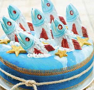Stargazy cake
