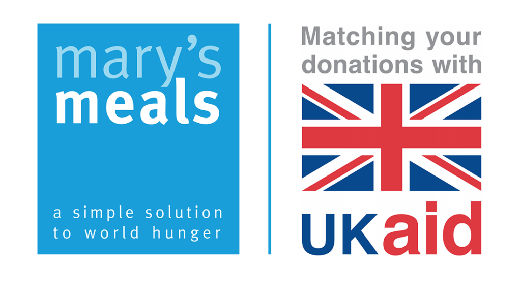 Mary's Meals and UK Aid match funding logo