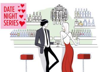 Man and woman at bar Illustration: Getty Image, Mandy Dixon