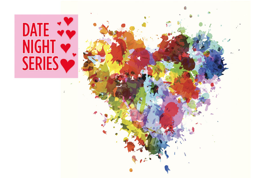A heart illustration made with paint and flower shapes Illustration: Istockphoto