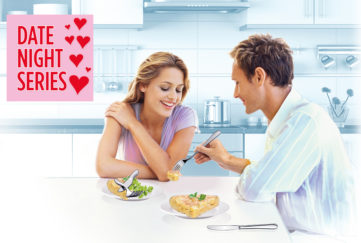 Man and woman sitting at kitchen table Illustration: Thinkstock, Mandy Dixon