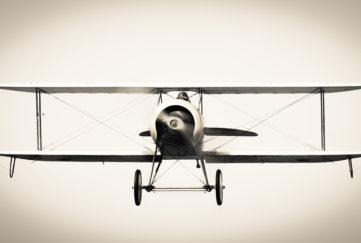 Amelia Earhart in her biplane