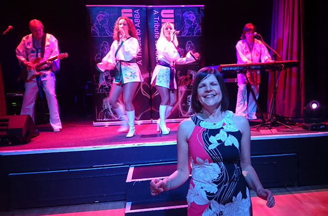 Reader Domini was our Dancing Queen at ABBA tribute night