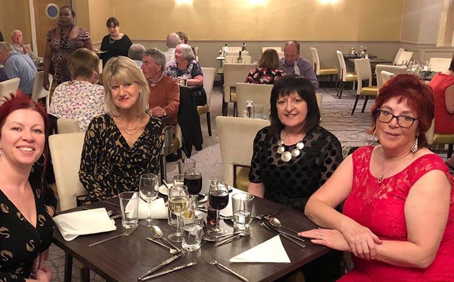 My Weekly's Dorothy, Kirsty and Maggie with guest speaker, author Jane Corry