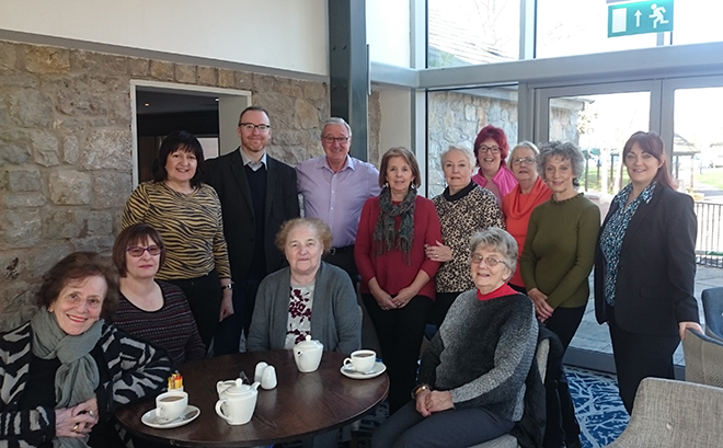 Some of our holidaymakers enjoying a farewell cuppa with the My Weekly staff