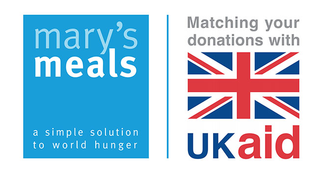 UK Aid and Mary's Meals Double the Love logo