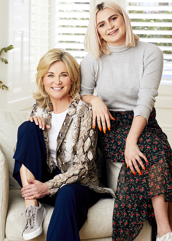Anthea Turner and stepdaughter C;laudia Bovey