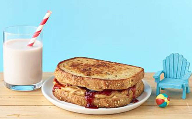 Jam, peanut butter and chipotle sandwich
