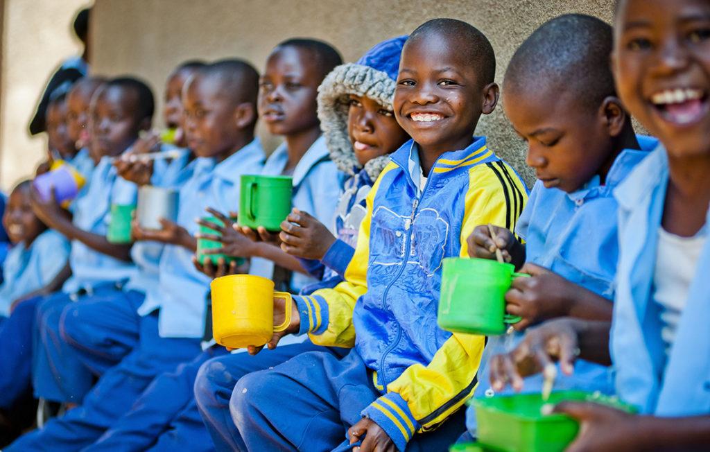 Children at a school in Zambia Pic: Chris Watt