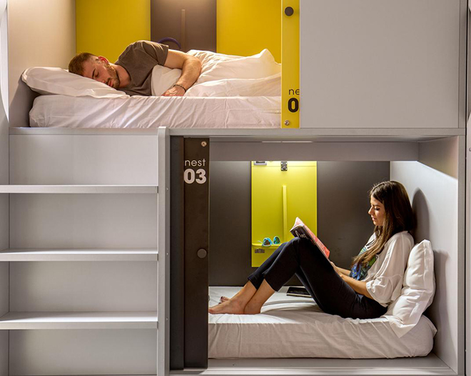 Beds at Free Hostels Roma