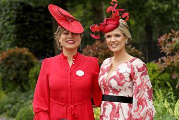 Kate Silverton and Charlotte Hawkins at Royal Ascot June 18 2019