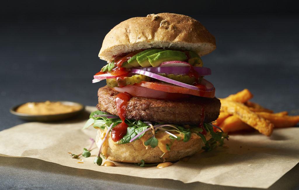 Quorn Burger on a bun