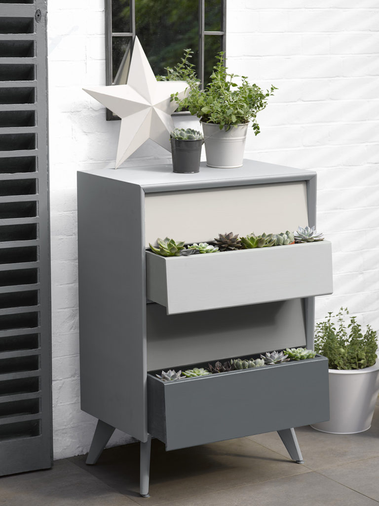 Chest of Drawers in shades of grey