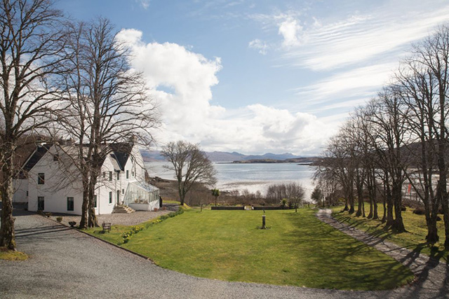The view from Kinloch Lodge