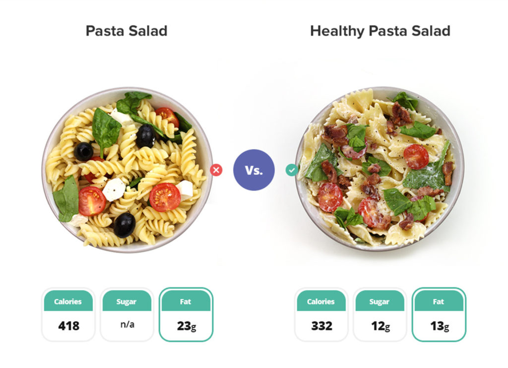 Two pasta salads