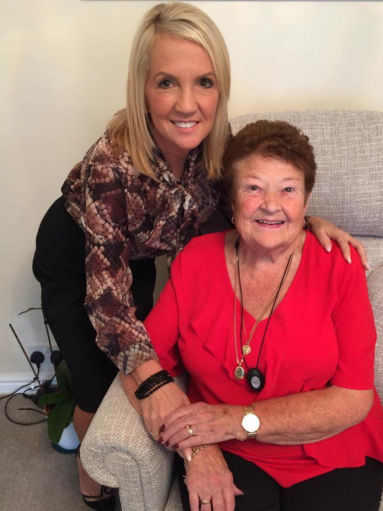 Alyson Scurfield and her mum Elizabeth Powley