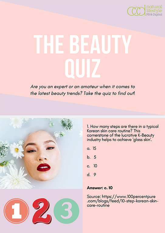 Beauty quiz question