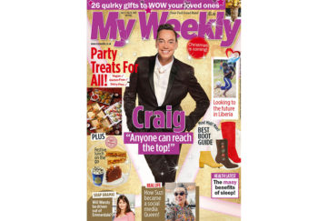 Cover of My Weekly latest issue December 3 with Craig Revel Horwood and party food for special diets