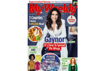 Cover of My Weekly latest issue November 26 with Gaynor Faye and 2-hour Christmas dinner