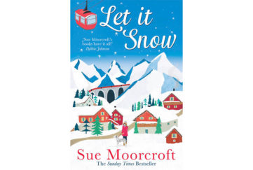 Cover of Let It Snow, Swiss cottages in front of mountains, all covered in snow, woman with dalmatian dog on lead in foreground