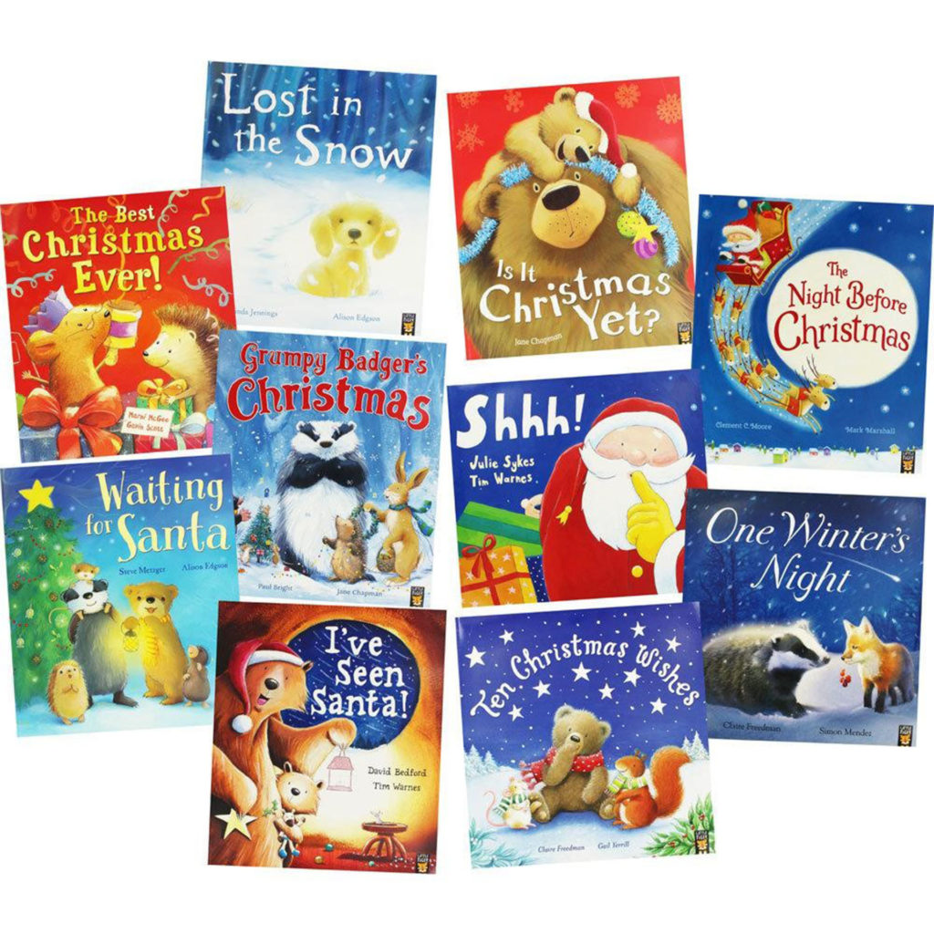 10 children's Christmas picture story books such as I've Seen Santa, many with animal characters