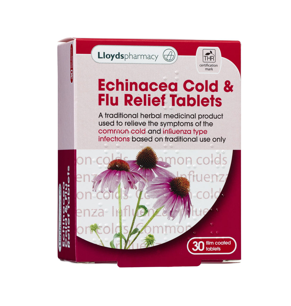 lloyds Echinacea Cold and Flu Relief Tablets