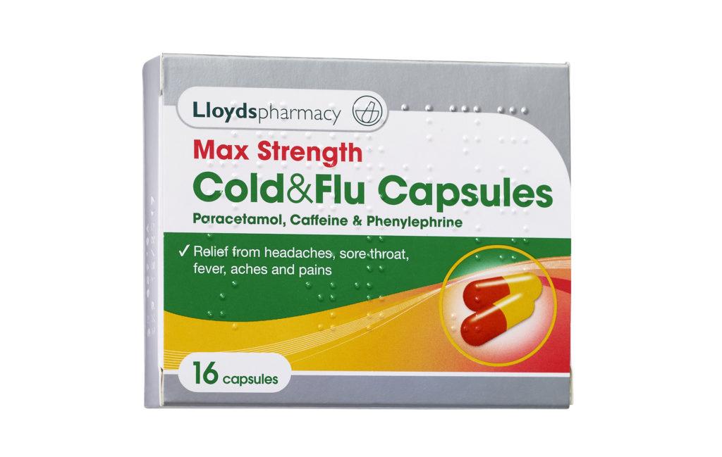 Lloyds Max Strength Cold & Flu Capsules