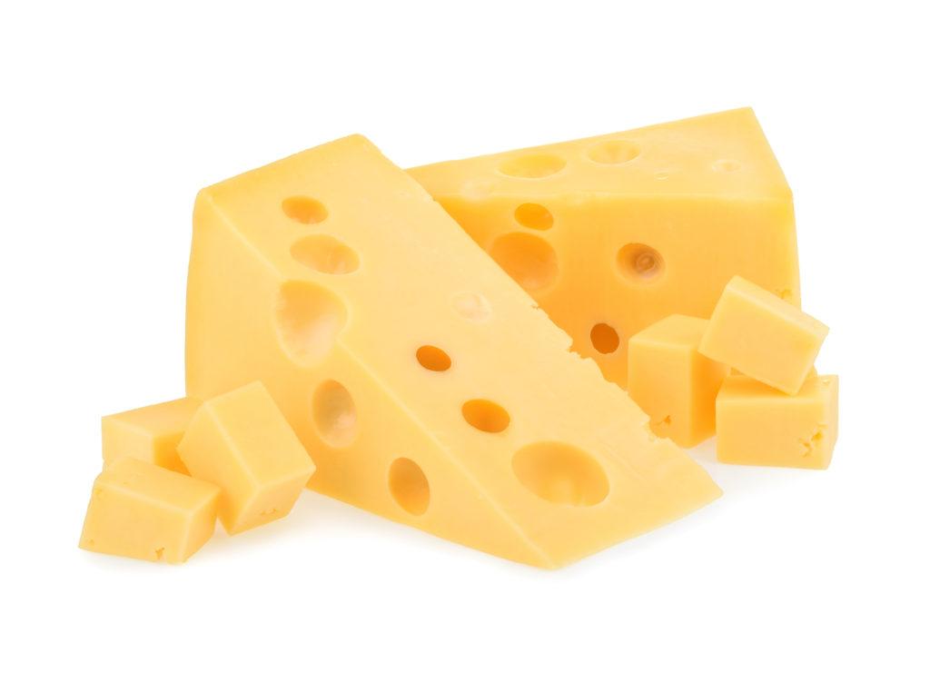 Cut block of cheese