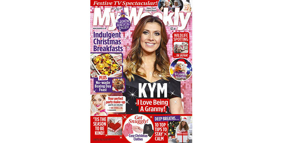 Cover of My Weekly latest issue December 17, 2019, with Kym Marsh and Christmas breakfast recipes