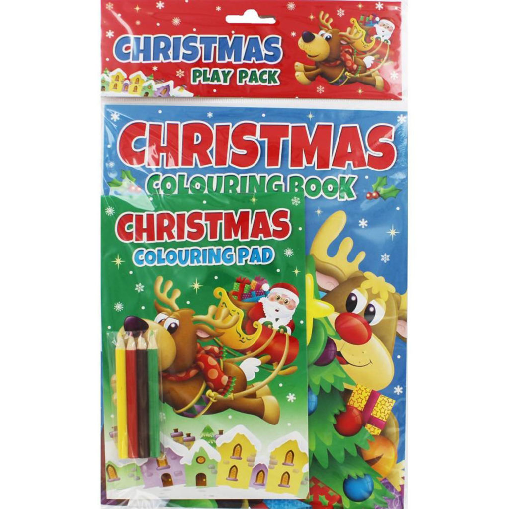 Christmas colouring book and pad in packet